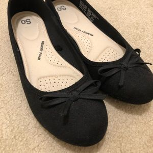 *New* Black ballet flats with memory foam